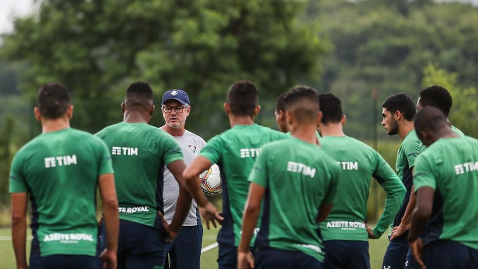 Fluminense pretende testar jogadores mais perto da volta aos treinos — Foto: Lucas Merçon / Fluminense FC