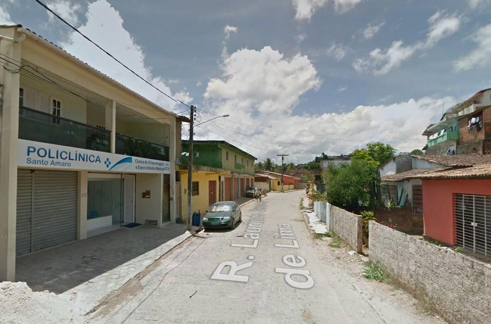 Rua Laurindo Gonçalves de Lima fica em Sirinhaém, no Litoral Sul de Pernambuco — Foto: Reprodução/Google Street View