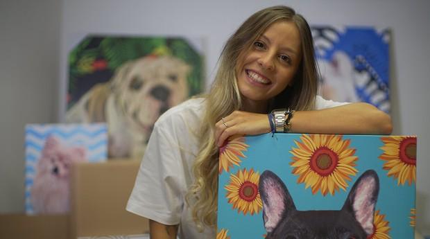 Gabriela Rossato é estudante de arquitetura e pintora (Foto: Divulgação)