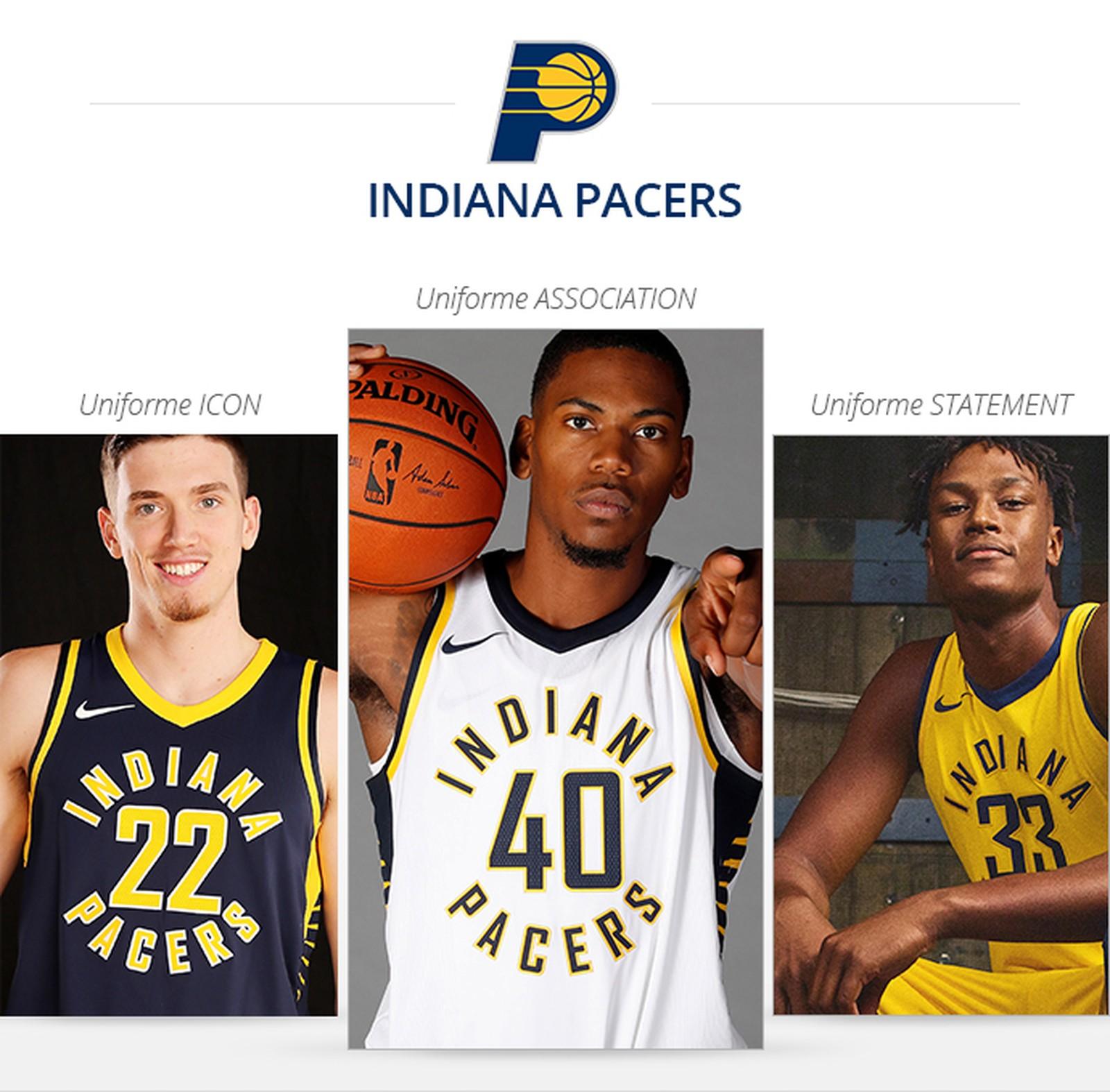 Uniformes Indiana Pacers saison 2017/18