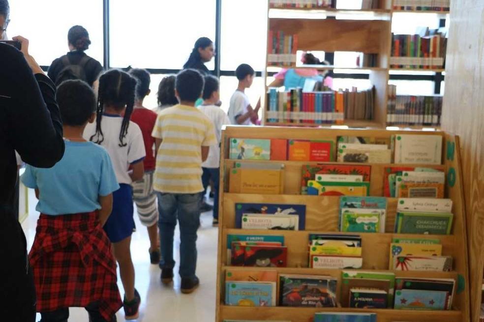Biblioteca infantil do Centro Cultural Oscar Niemeyer — Foto: Centro Cultural Oscar Niemeyer/Divulgação