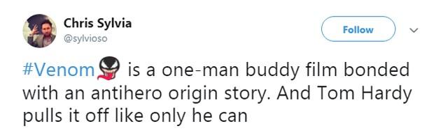 Crítica sobre Venon (Foto: Reprodução Twitter)