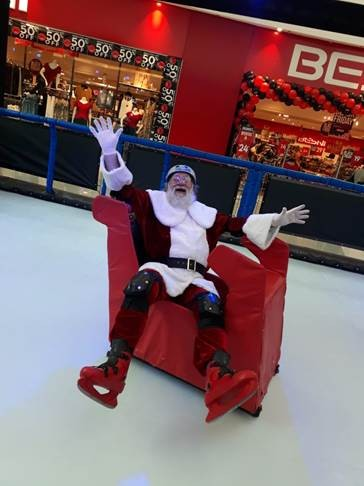 Shopping abre pista de patinação no gelo e trenó em Campinas  - Noticias