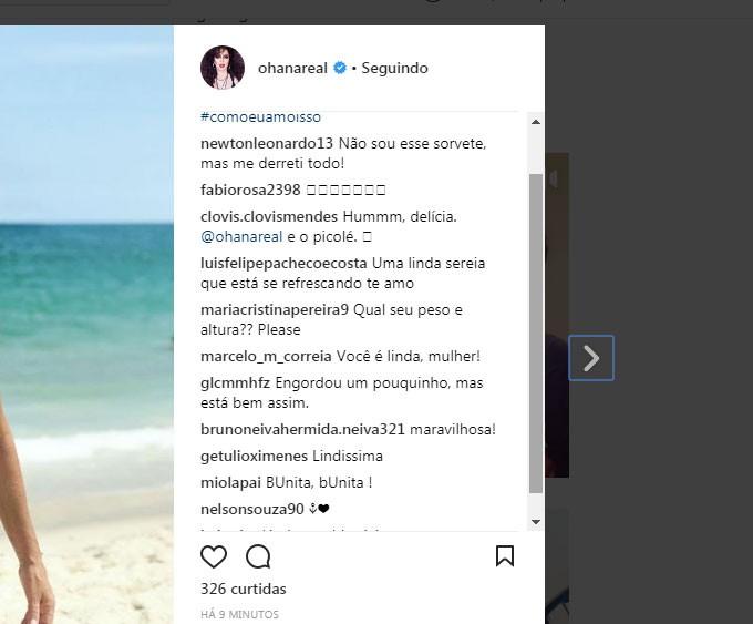 Chuva de likes! (Foto: Reprodução/Instagram)