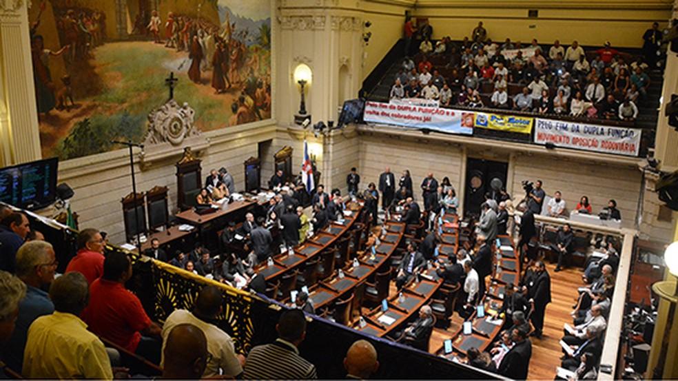 Sessão da Câmara de Vereadores do Rio (Foto: Assessoria de imprensa/Câmara RJ)