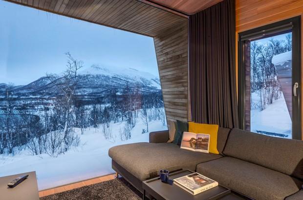 Casa de campo na Noruega permite ver a aurora boreal