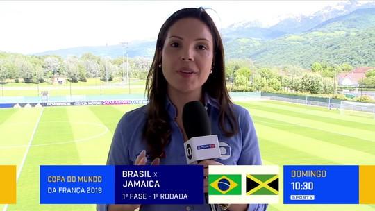 """Lizandra Trindade pede tratamento igual a seleções: """"Vim disposta a não falar futebol feminino"""""""