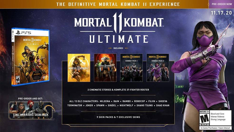 Mortal Kombat 11 Ultimate terá todos os conteúdos lançados até o momento — Foto: Divulgação/NetherRealm