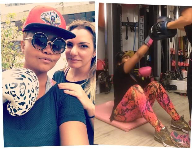 Gaby e Cau: os detalhes do treino da cantora (Foto: Reprodução / Instagram)