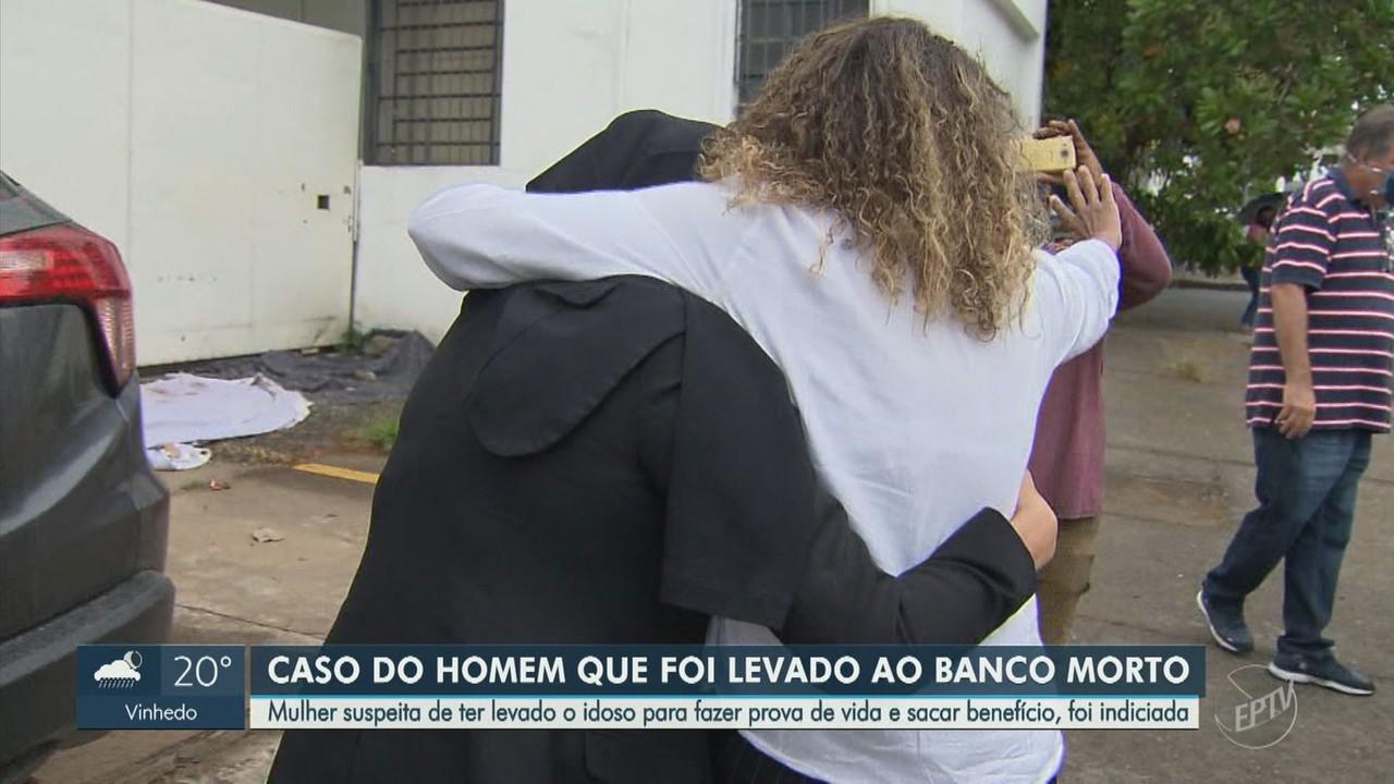 Mulher que levou idoso morto a banco de Campinas é indiciada por desrespeito a cadáver
