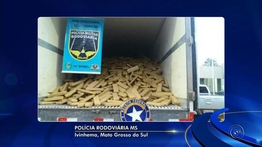 Moradores do interior de SP são presos com quase 7 toneladas de maconha no Mato Grosso do Sul