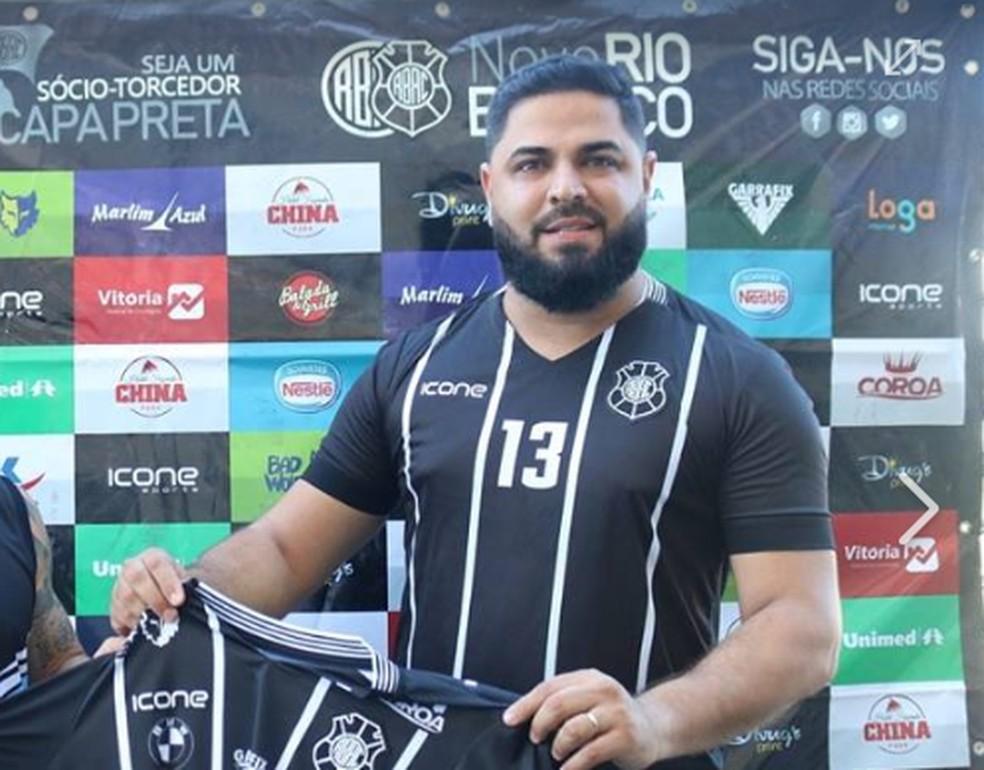 Luciano Mendonça, presidente do Rio Branco-ES — Foto: Daniel Pasti/Rio Branco AC