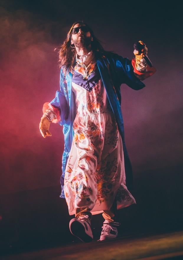 Jared Leto no show do 30 Seconds to Mars, em São Paulo (Foto: Stephan Solon)