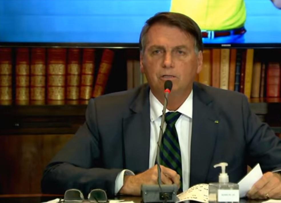 Live Bolsonaro — Foto: Reprodução