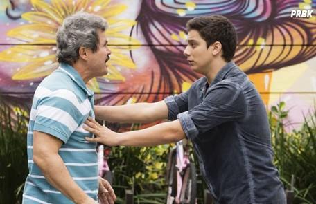 Jeff (Cadu Libonati) queria ser dançarino e enfrentou o preconceito do pai, Lincoln (Edmilson Barros) Globo
