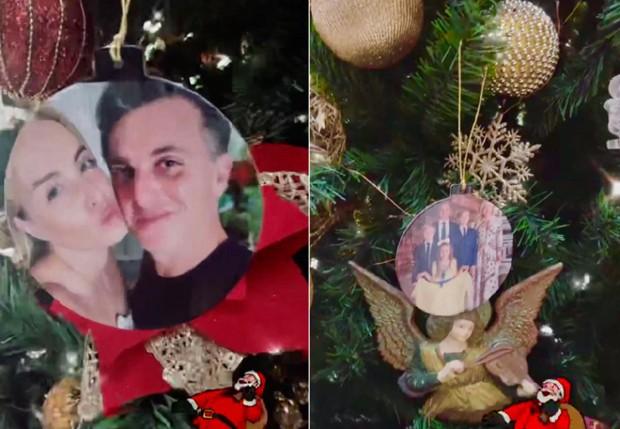 Árvore de natal personalizada com fotos da família de Angélica e Luciano Huck (Foto: Reprodução/Instagram)