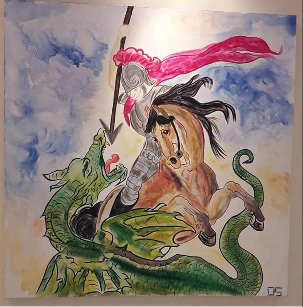 """A exposição """"Feng Shui"""" ficará aberta na Estação de Luis Carlos até 13 de janeiro. — Foto: Débora Gouvea Prado dos Santos / arquivo pessoal"""
