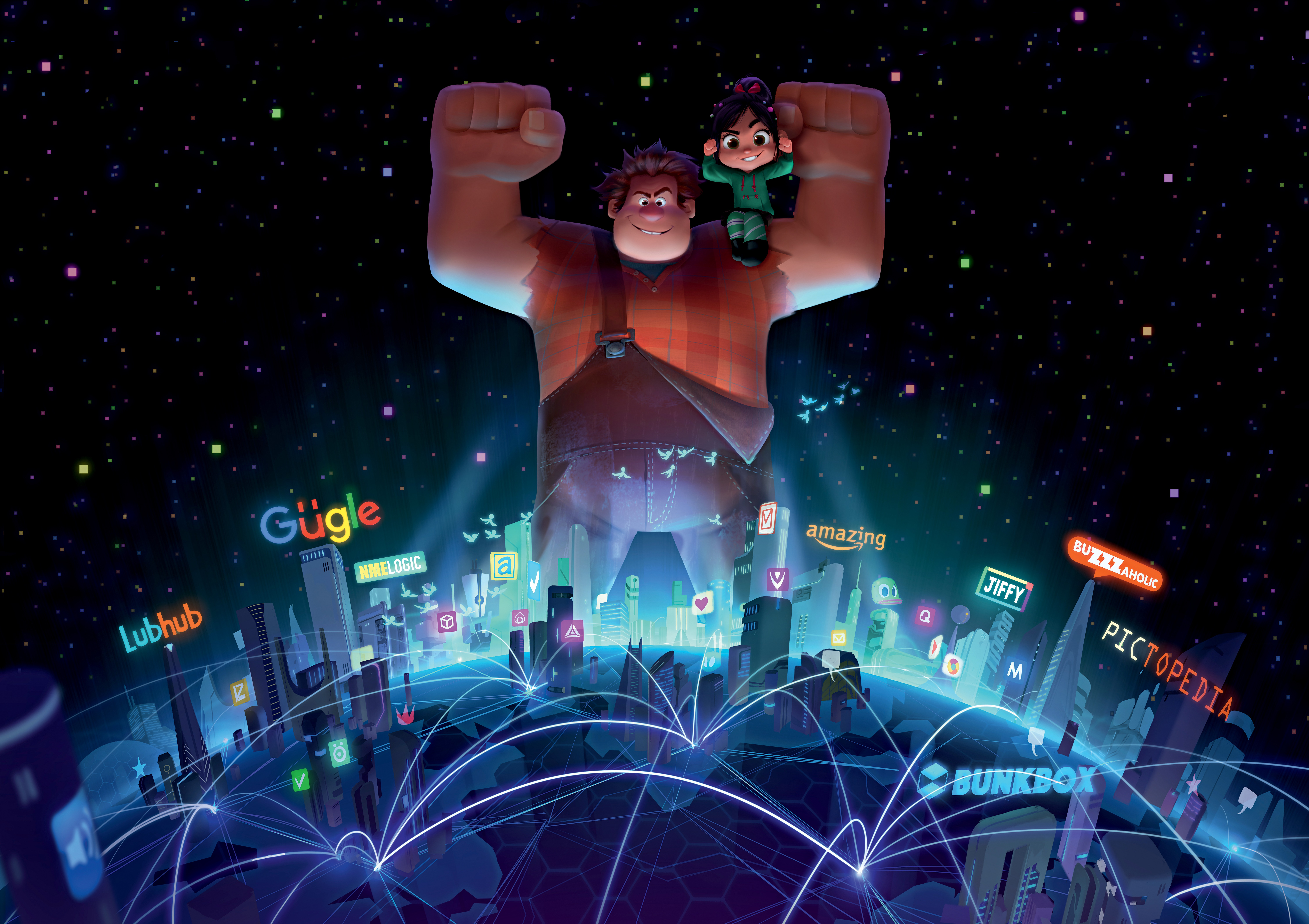 WRECKING THE INTERNET — Wreck-It Ralph is heading back to the big screen—this time he's wrecking the internet. John C. Reilly returns as the voice of the bad-guy-turned-good, Ralph, and Sarah Silverman once again lends her voice to the girl with the game- (Foto: Divulgação)