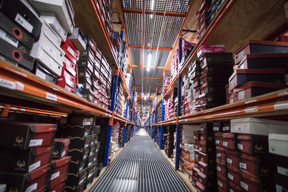 Centro de distribuição da Netshoes (Foto: Marcelo Brandt/G1)