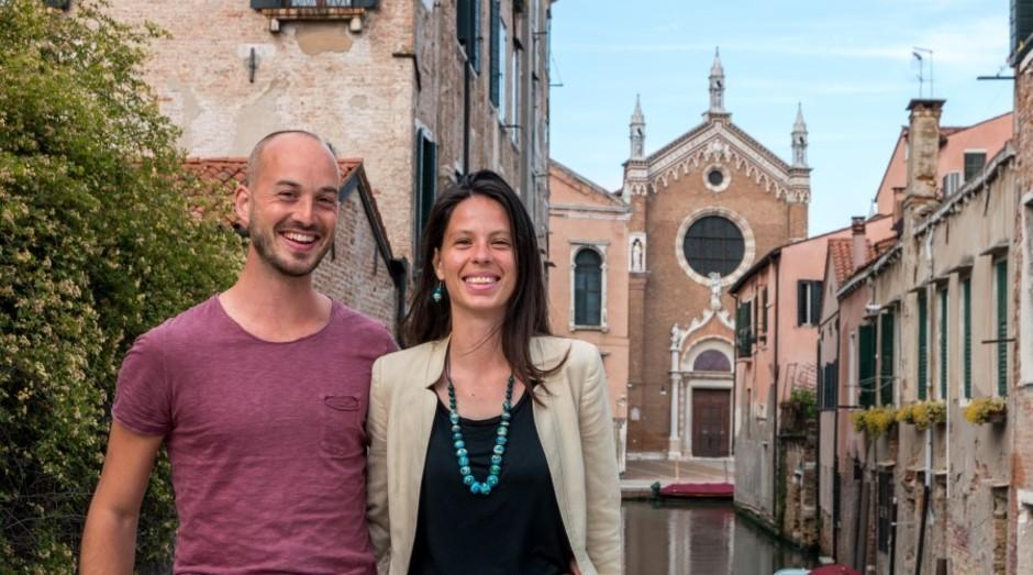 Sebastian Fagarazzi e Valeria Duflot, fundadores da Venezia Autentica (Foto: Divulgação)