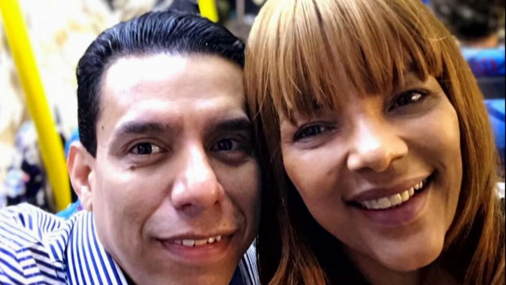 Anderson e Flordelis — Foto: Reprodução/TV Globo