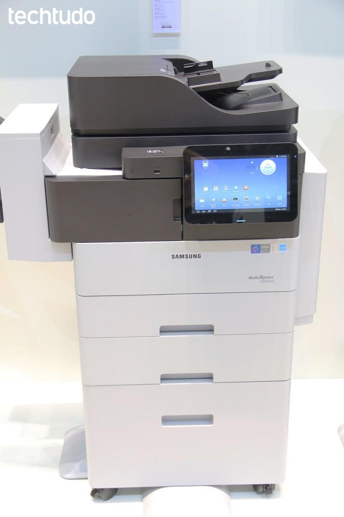 Impressoras que rodam Android dispensam o uso de computadores paraimprimir artigos (Foto: Fabrício Vitorino/TechTudo)