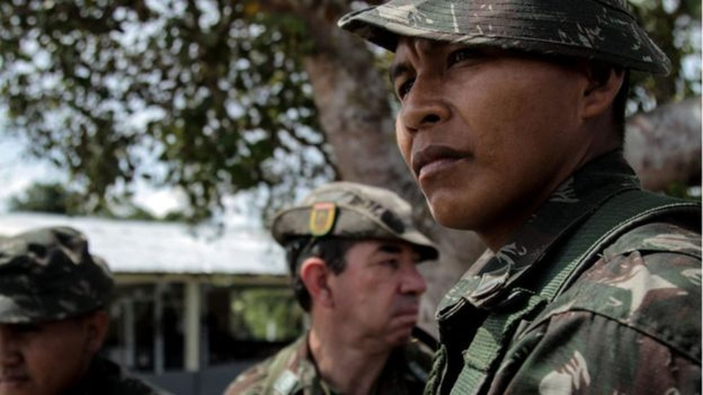 Dezenas de militares do Exército cuidaram da logística da expedição (Foto: BBC)