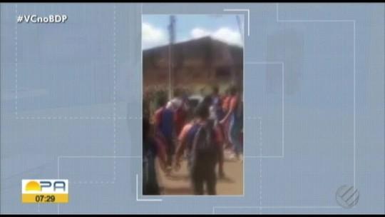 Vídeo mostra pancadaria entre estudantes de escola municipal em Tucuruí