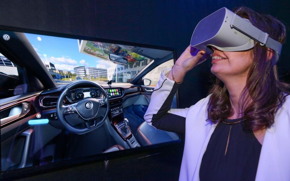 volks-realidade-virtual Inovação: Volkswagen quer vender carros também fora das concessionárias tradicionais...