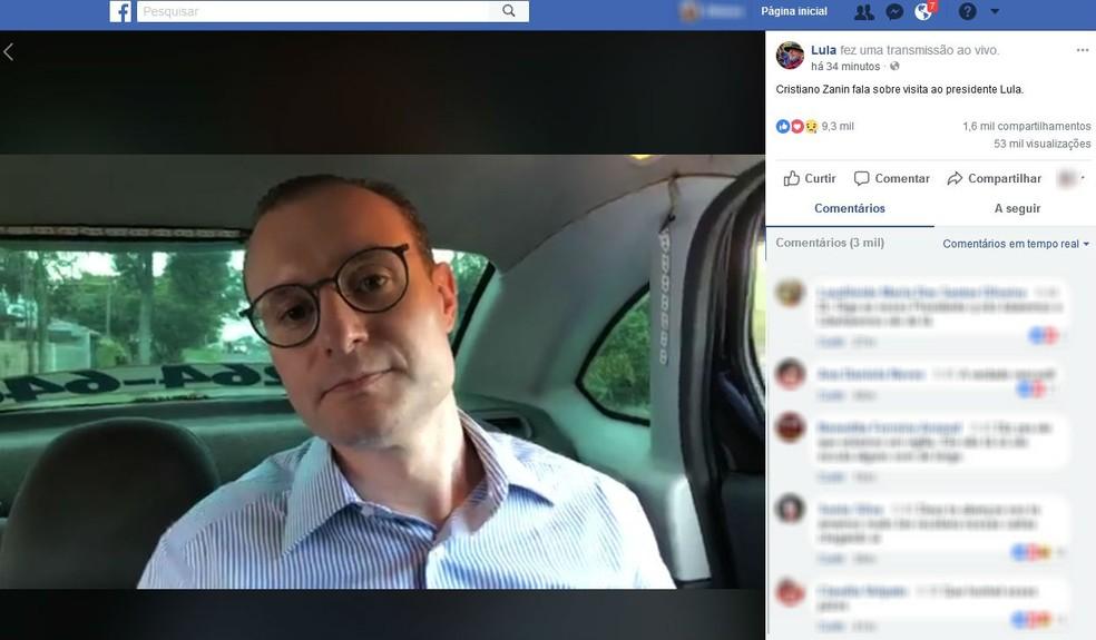 Advogado de Lula publica vídeo após visitar o ex-presidente na prisão (Foto: Reprodução/ Facebook)