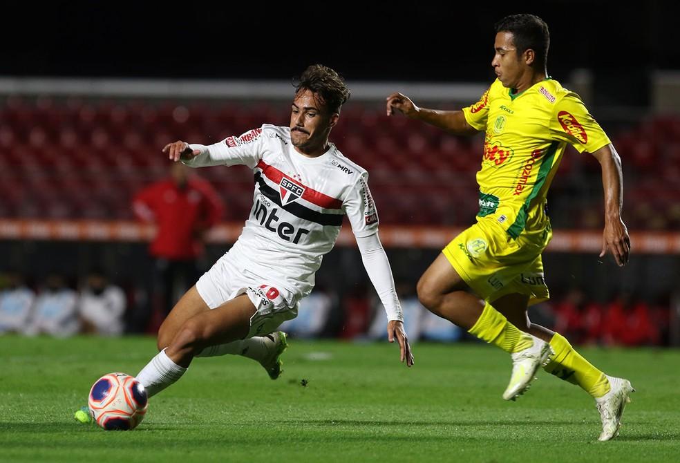 Igor Gomes em ação pelo São Paulo — Foto: Rubens Chiri / saopaulofc.net