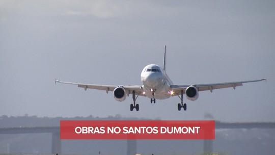 Obras no Aeroporto Santos Dumont começam hoje; veja voos afetados