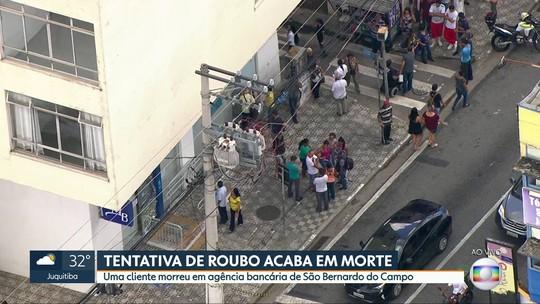 Funcionária morre baleada durante assalto a banco em São Bernardo do Campo