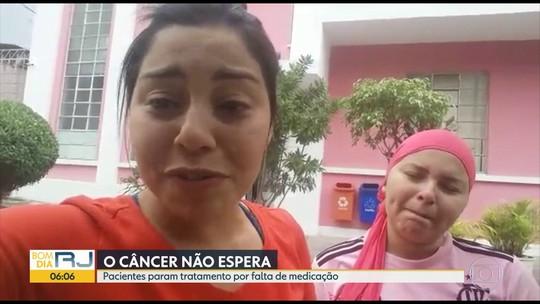 Paciente com câncer em estágio avançado se desespera após interrupção de tratamento no RJ