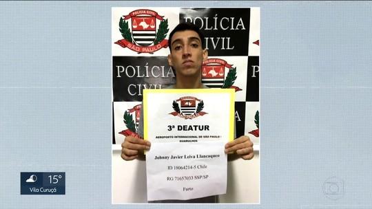 Chileno é preso por furtar computadores de passageiros no aeroporto de Guarulhos