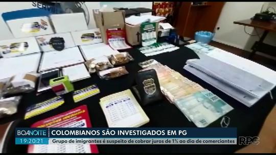Grupo de colombianos é suspeito de cobrar juros de 1% ao dia de comerciantes em PG