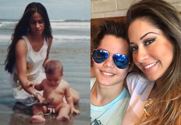 Mayra Cardi e o filho, Lucas (Foto: Reprodução/Instagram)