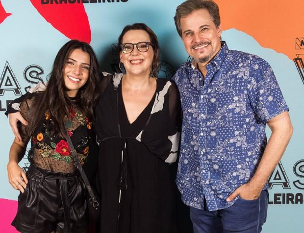 Rayssa Bratillieri, Ana Beatriz Nogueira e Edson Celulari (Foto: TV Globo/João Miguel Júnior)