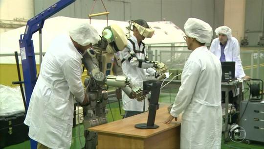 Um android russo foi lançado rumo à estação espacial hoje