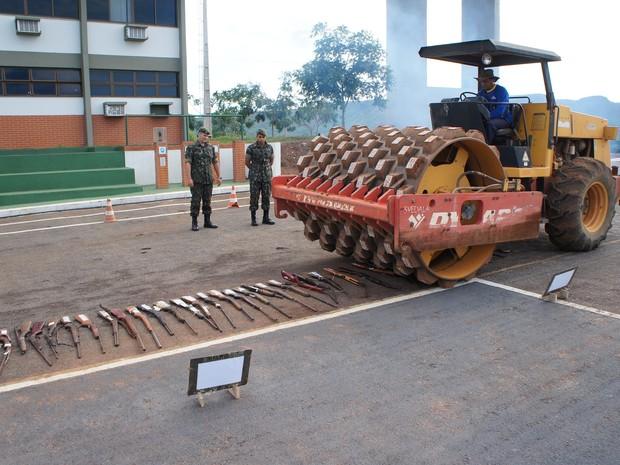 Armas de fogo e munições foram apreendidas em todo o Tocantins (Foto: Divulgação/22º Batalhão de Infantaria)