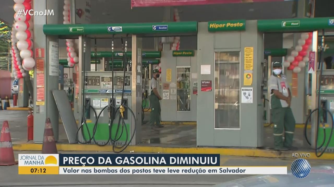 Economia: Preço da gasolina tem leve redução nos postos de Salvador