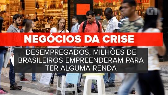 Crise faz empreendedorismo por necessidade voltar a crescer no Brasil
