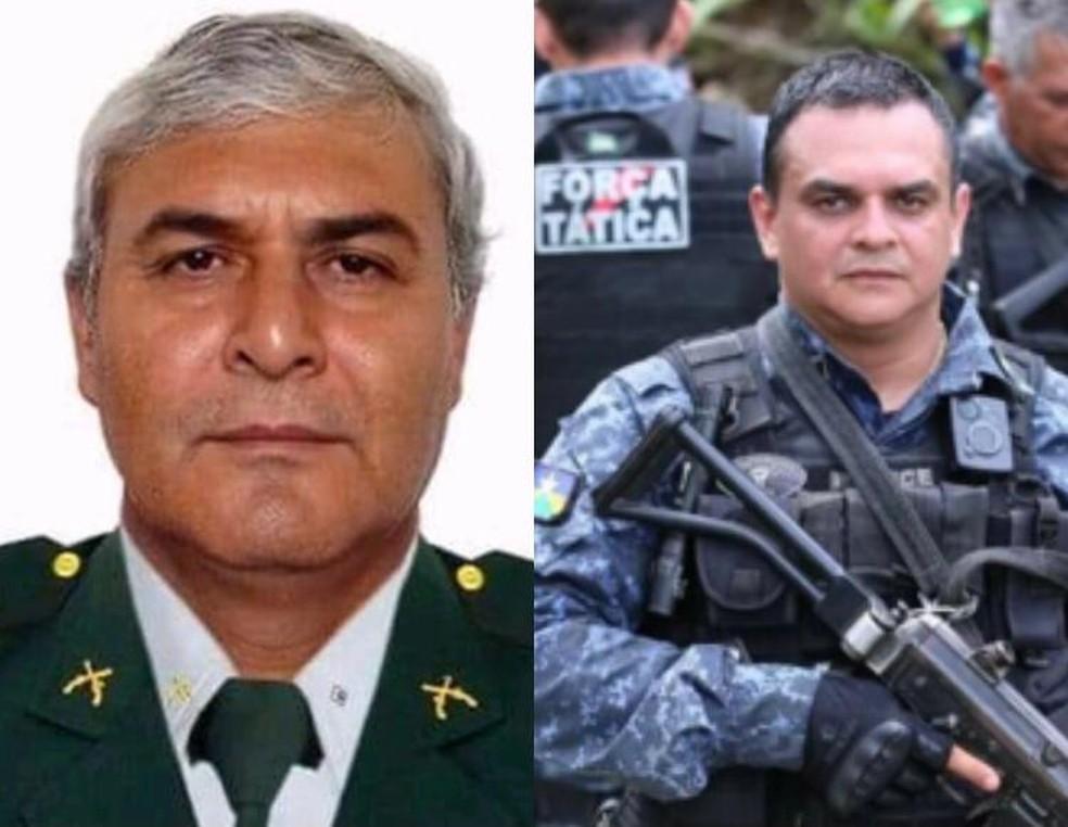 Figueiredo e Rodrigues: policiais mortos em emboscada em Rondônia. — Foto: Polícia Militar/Divulgação
