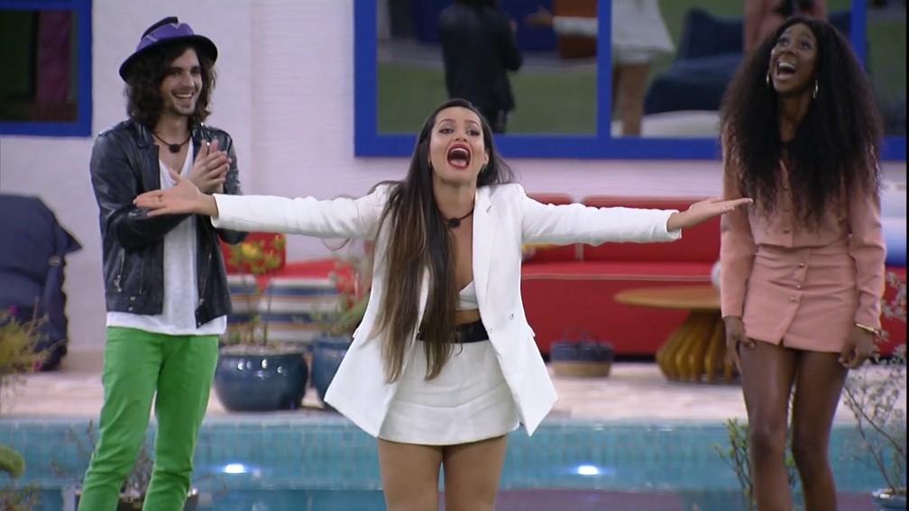 Fiuk, Juliette e Camilla de Lucas, finalistas do 'BBB 21' — Foto: Reprodução/TV Globo