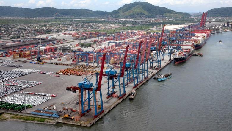 Fotos do Porto de Santos para o banco de imagens do site www.portodesantos.com.br (Foto: www.estudio58.com.br)