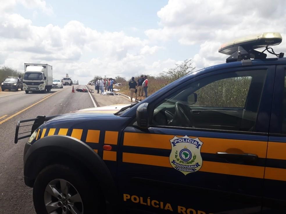 Acidente aconteceu na BR-304, próximo da cidade de Santa Maria — Foto: Marksuel Figueredo/Inter TV Cabugi