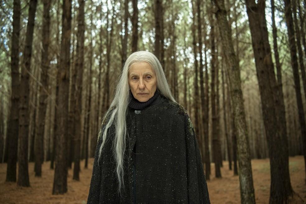 Cassia Kis interpreta a bruxa Haia em Desalma — Foto: Divulgação/Estevam Avellar/Globo