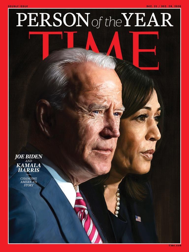 Biden e Kamala são escolhidos 'Personalidade do Ano' pela revista 'Time'