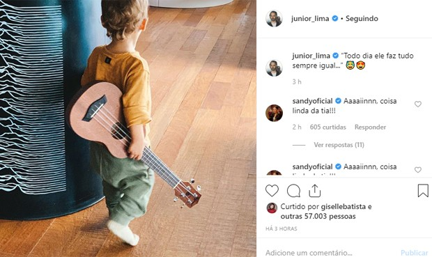 Otto, filho de Junior Lima e Monica Benini (Foto: Reprodução/Instagram)