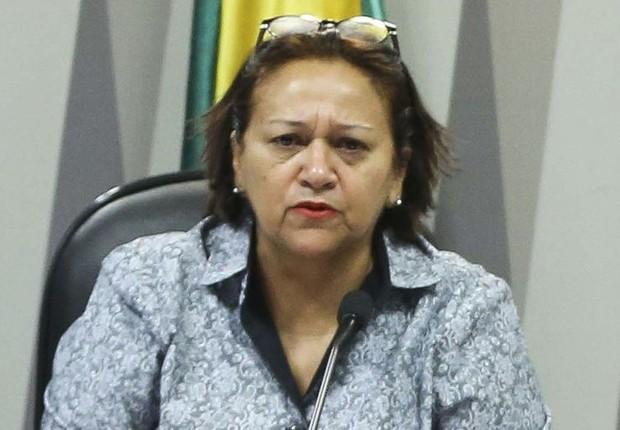 A candidata Fátima Bezerra (PT) ao governo do Rio Grande do Norte  (Foto: Marcelo Camargo/Agencia Brasil)
